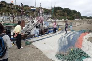 メバル漁の準備見学